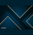 abstract paper cut gradient dark blue with golden vector image vector image