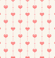 Abstract seamless pattern with pink hearts vector image vector image