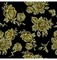 Art Deco floral seamless pattern with roses