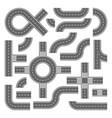 asphalt roads design elements for city map vector image