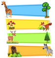 banner template with wild animals vector image vector image