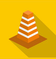 barrier icon flat style vector image vector image