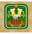 beer banners on topic with beer vector image vector image