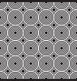 black and white circles vector image vector image