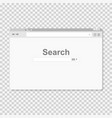 browser window internet search in a flat style vector image vector image