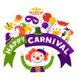 carnival celebration festive composition poster vector image vector image