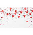 celebration party banner red and silver foil vector image vector image