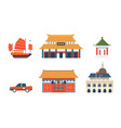 chinese traditional architectural and cultural vector image vector image