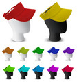 color visor template on mannequin head vector image vector image