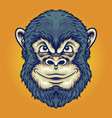 cool head monkey thinking for your work logo vector image