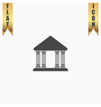 court building icon vector image
