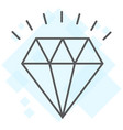 diamond thin line icon expensive and luxury vector image