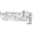 different types bird baths vector image vector image