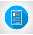 Document form blue round icon vector image vector image