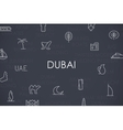 Dubai Thin Line Icons vector image