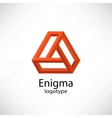 Enigma Abstract impossible shapes vector image vector image