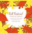 fall festival banner template with bright autumn vector image vector image