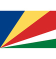 Flag of Seychelles vector image vector image