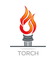 Flame Fire Torch Design Luxury Logo icon Shape vector image vector image