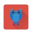 Flat owl icon vector image