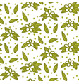 floral elements flower and leaf pattern vector image vector image