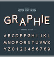 font and alphabet design typeface and number vector image