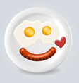 Food plate smile vector image