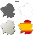 Galicia blank detailed outline map set vector image vector image