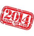 Grunge happy new 2014 year rubber stamp vector image vector image
