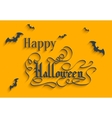 Happy Halloween lettering Greeting Card vector image vector image