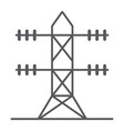 high voltage line thin line icon energy and vector image