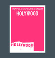 hollywood usa monument landmark brochure flat vector image