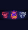 hot dog neon sign hot dog logo neon style vector image vector image