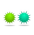 Isolated 3d virus and cancer cell on white
