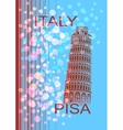 Italy Pisa vector image