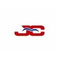 JC Logo Graphic Branding Letter Element vector image vector image