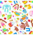 kids toys seamless pattern color toy for vector image vector image