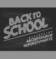 latin alphabet chalk - badge back to school trend vector image vector image
