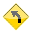 Left Curve Sign vector image vector image