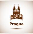 linear prague czech republic vector image