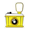 logo camera stylized camera for logo vector image