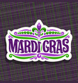 logo for mardi gras carnival vector image vector image