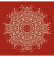 mandala on red Art vintage decorative elements vector image vector image