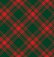 Menzies tartan green red kilt diagonal fabric vector image vector image