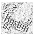 motels in boston Word Cloud Concept vector image vector image