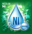 ni niccolum mineral blue drop icon vector image vector image