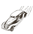 Old car racing at high speed vector image vector image