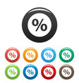 percent sign icons set vector image