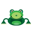 Picture of a smiling frog vector image