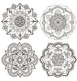 round decor in form an oriental ornament vector image vector image